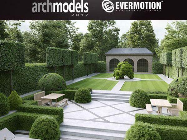60个植物园林景观树篱笆灌木3D模型下载 Evermotion Archmodels Vol 192