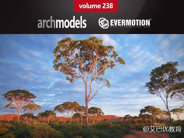 44套澳洲大洋洲树木3D模型下载 Evermotion – Archmodels vol. 238