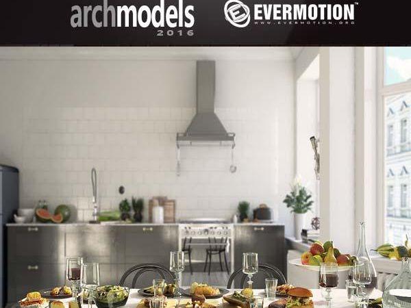 52个食物食品水果3D模型下载 Evermotion Archmodels vol. 170