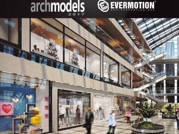 36个商场展览柜橱窗3D模型下载 Evermotion Archmodels Vol.178