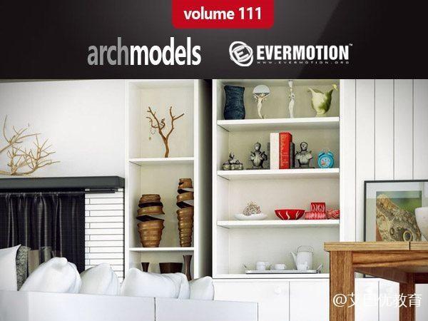 65套装饰摆件3d模型下载 Evermotion – Archmodels Vol.111