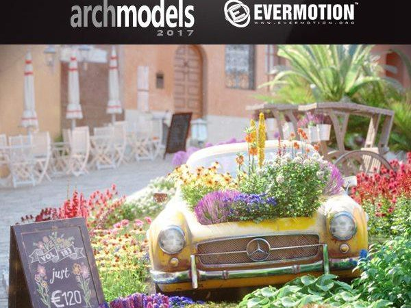 54个花园植物花朵3D模型下载EvermotionArchmodels Vol.183