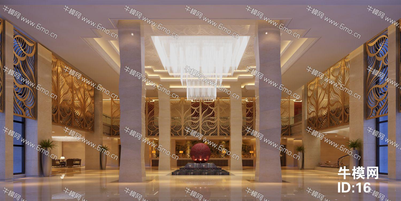 现代酒店大堂中心