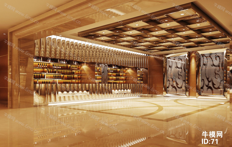 新中式酒楼餐厅大厅下载