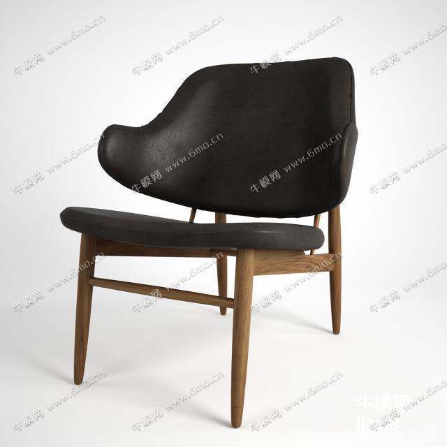 北欧实木椅子休闲咖啡厅简约餐椅靠背椅书桌椅家用
