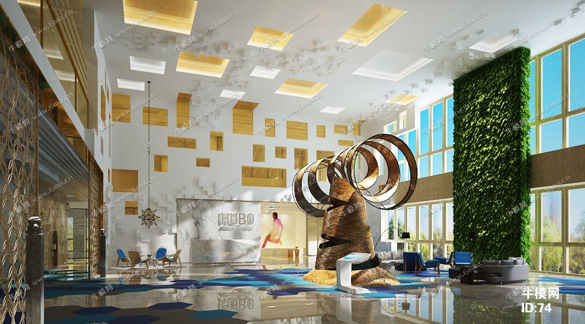 现代星级酒店大厅下载