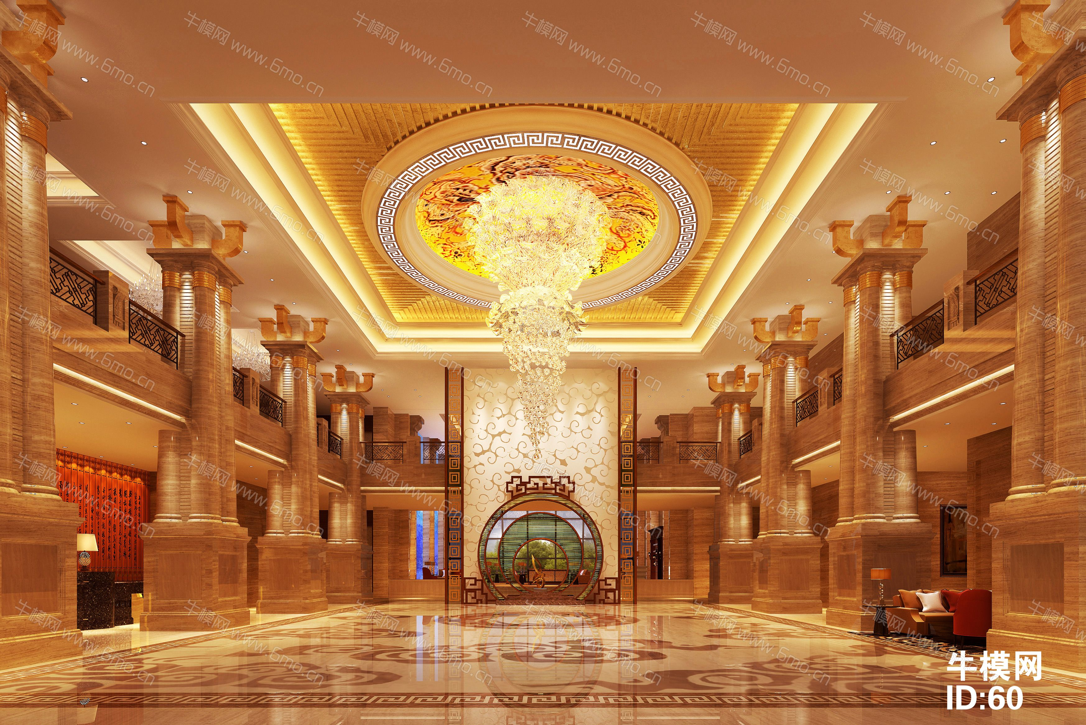 新中式酒店大厅下载