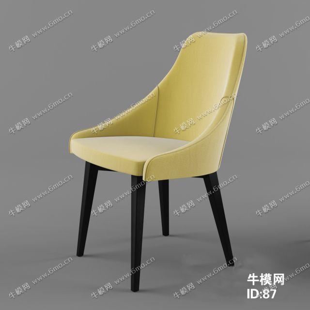 简欧黄色单人沙发椅