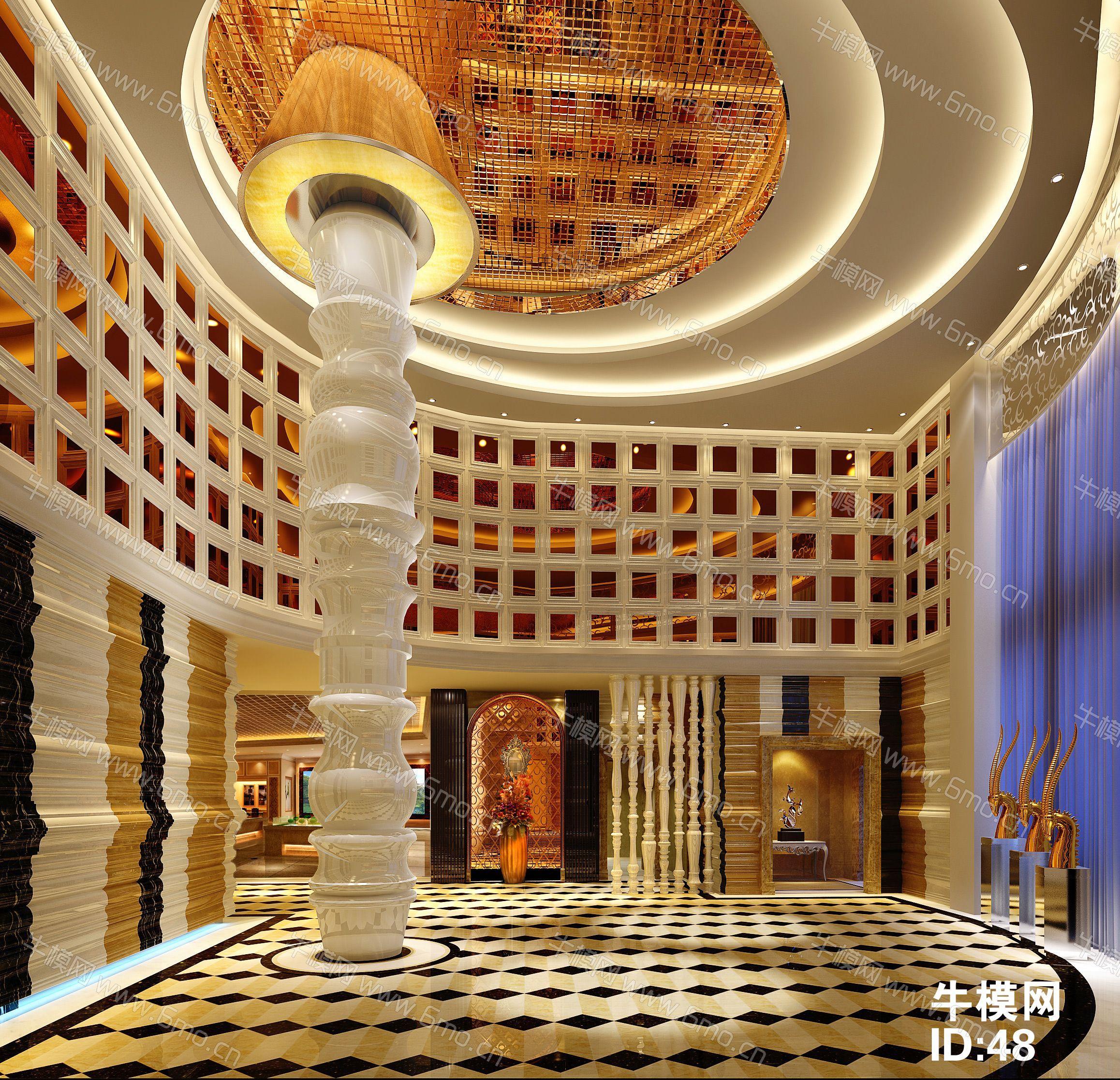 现代风格酒店大厅下载