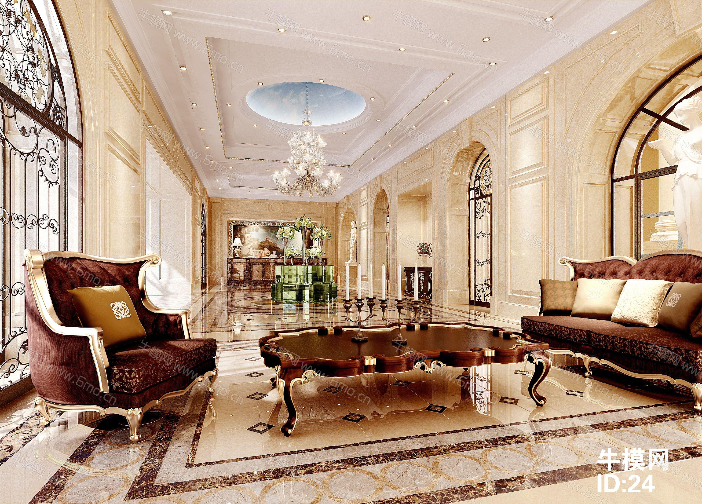 酒店大堂休息会客区