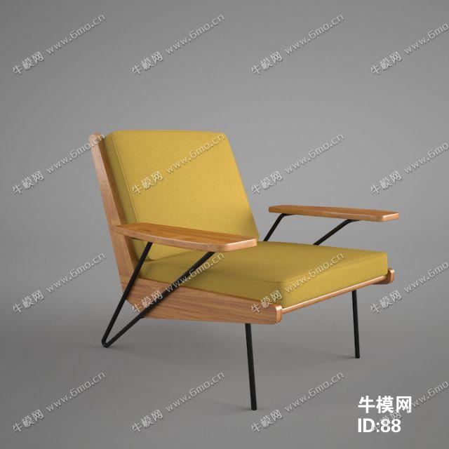 北欧风格单人沙发椅子