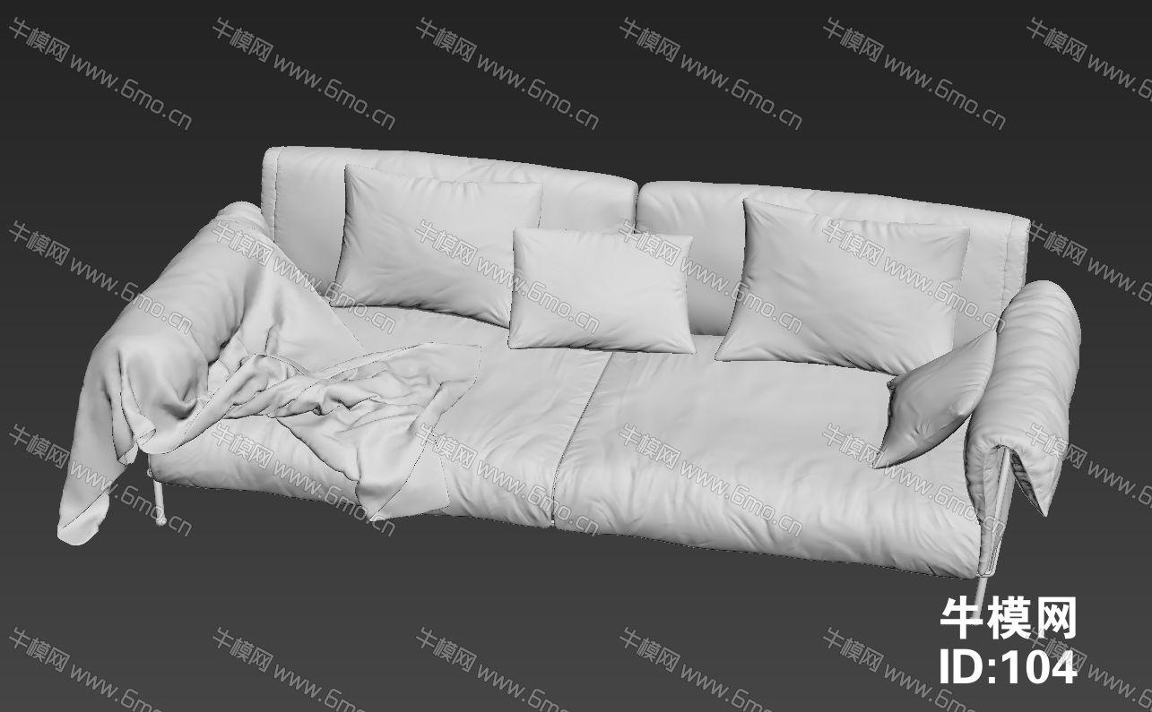 双人布艺懒人沙发