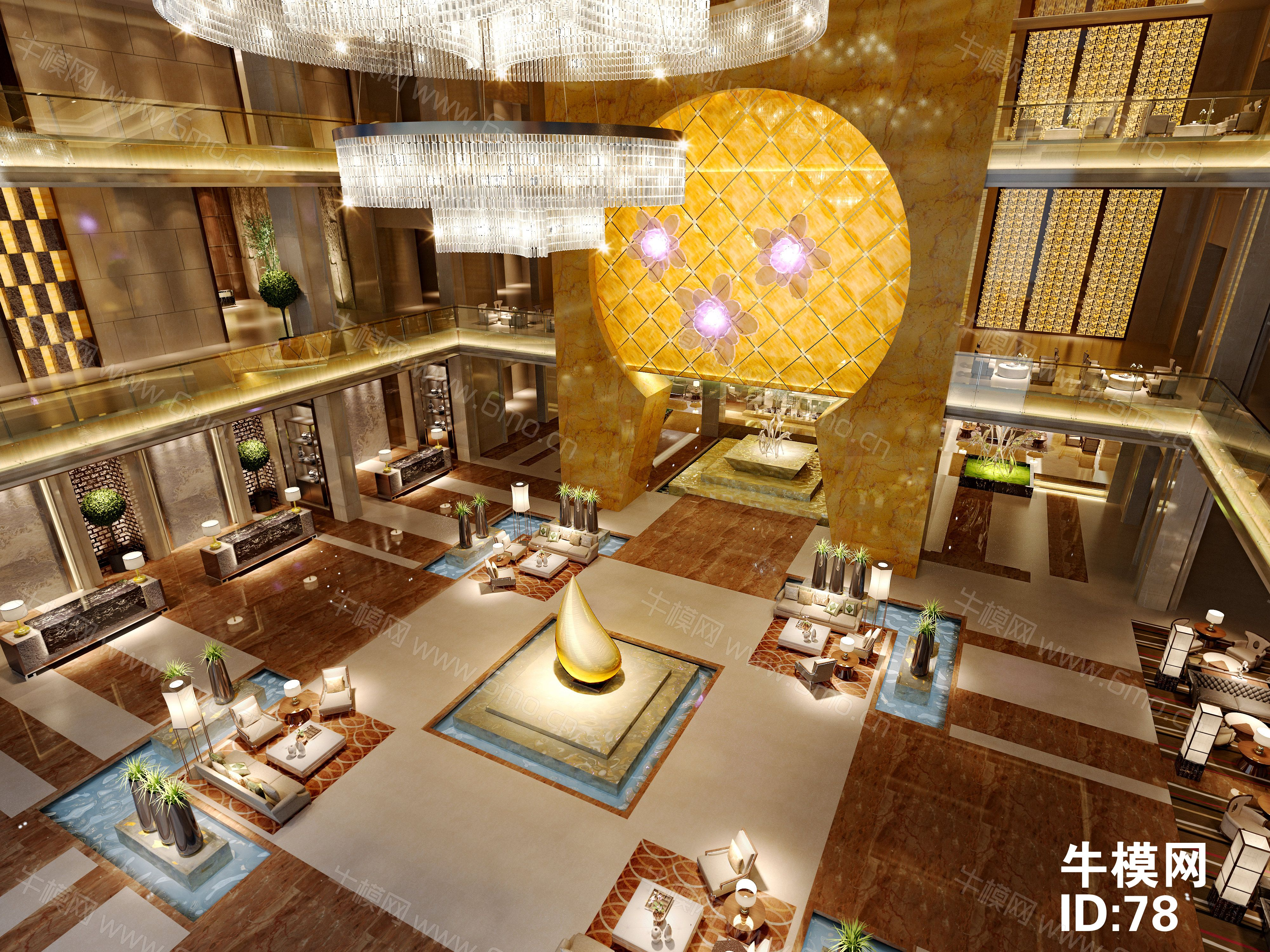 新中式酒楼接待休息区下载