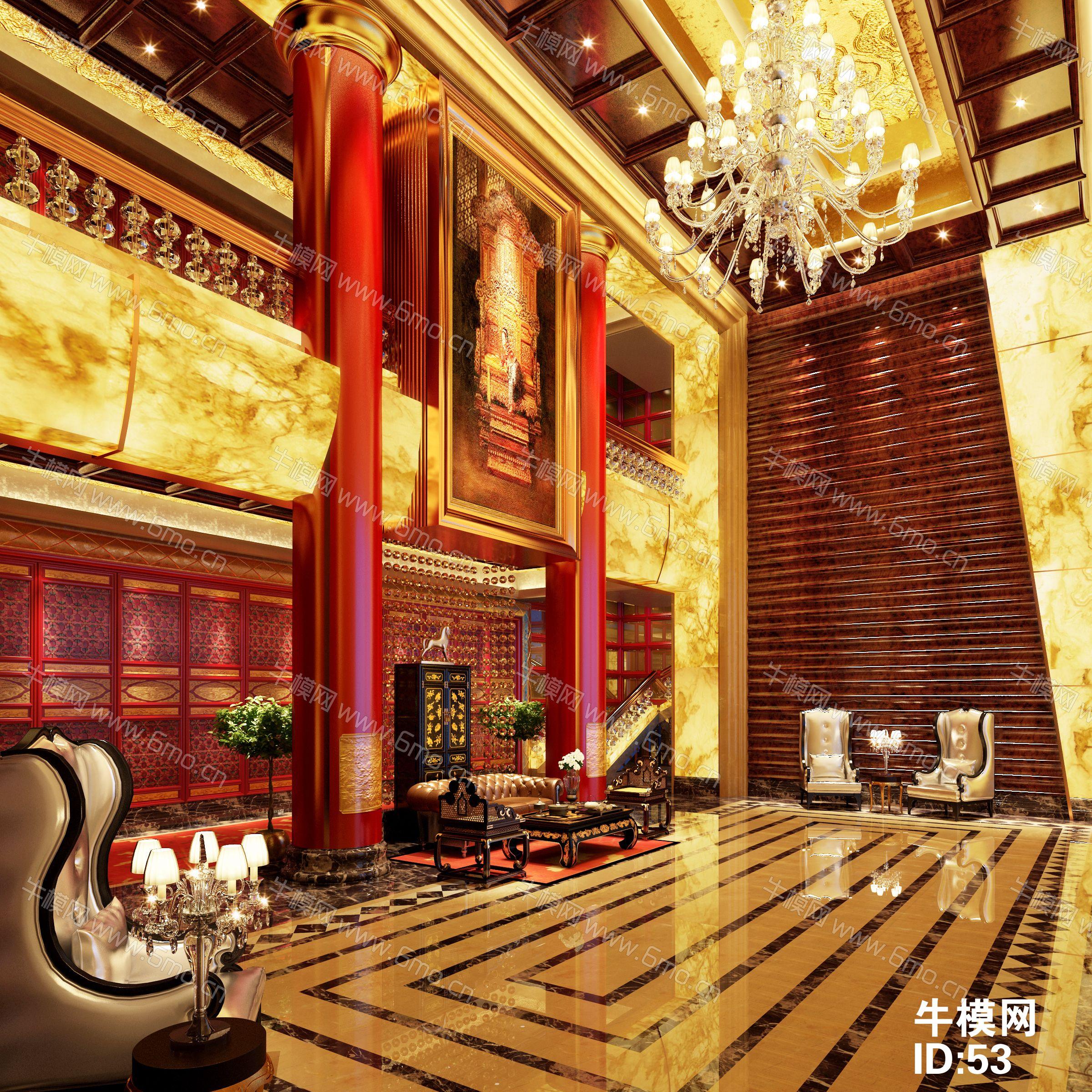 古典中式酒店大厅下载