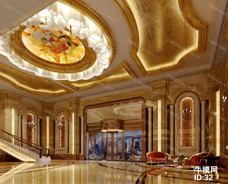 欧式五星酒店大堂下载