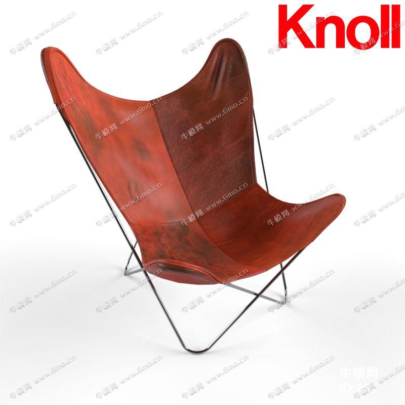 真皮铁艺休闲单人椅子