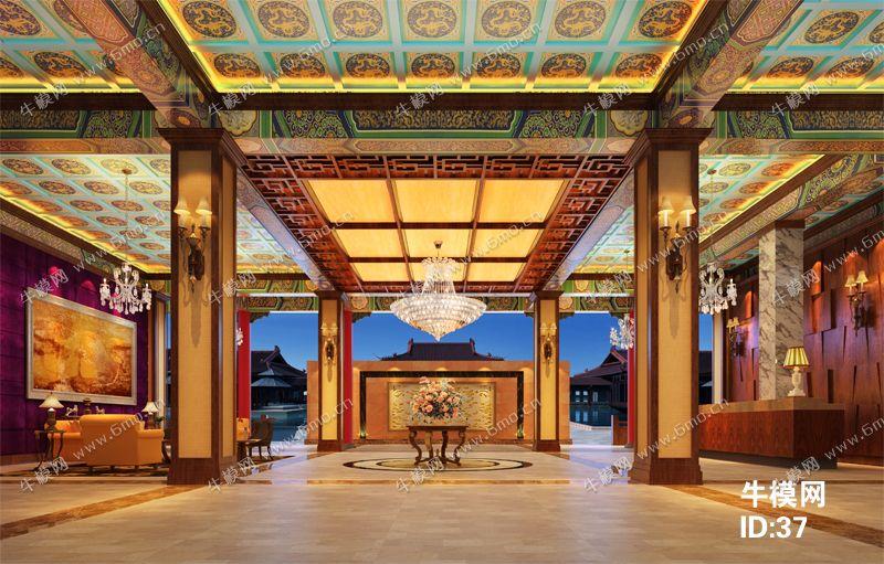 中式酒店大厅