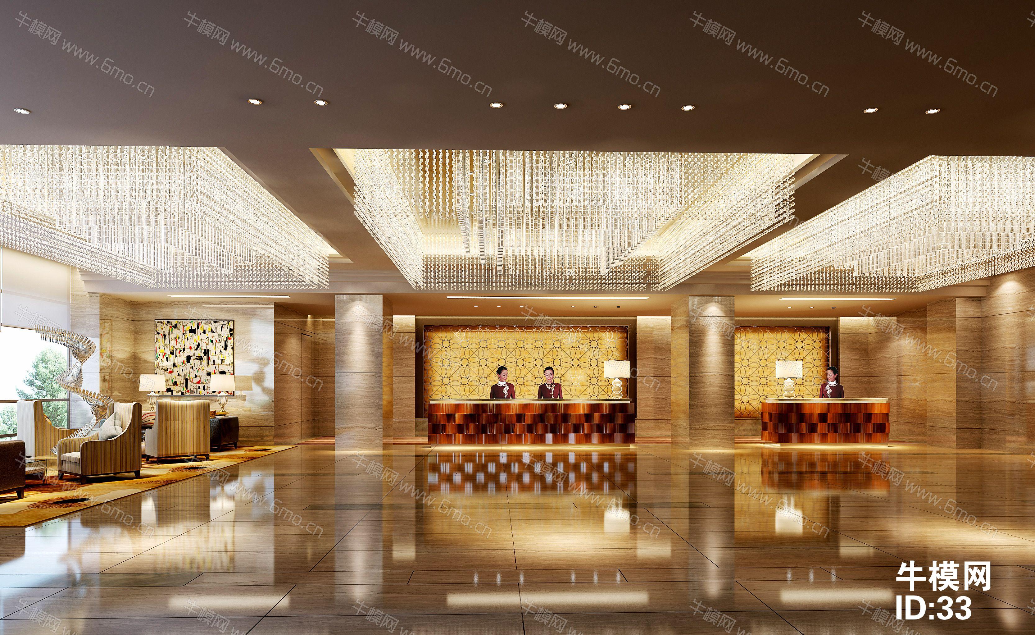 四星级酒店大堂前台/休息区下载