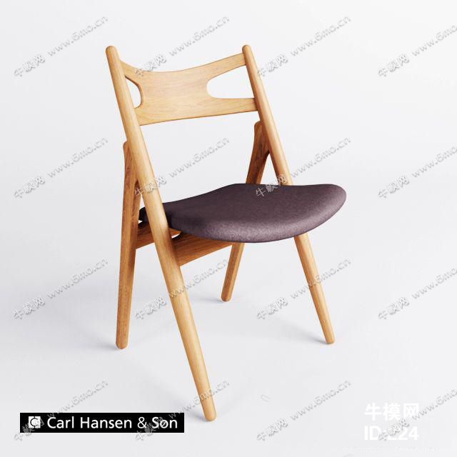 中式实木布艺单人椅子
