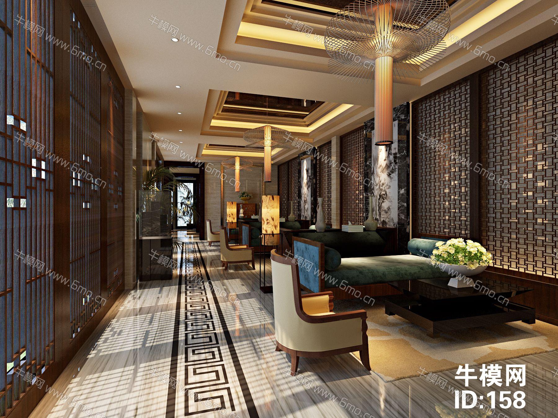 新中式售楼处洽谈区