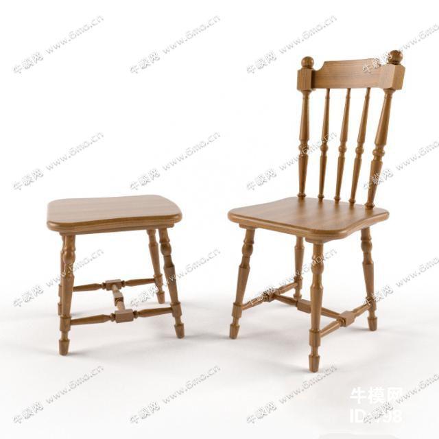 简欧单人实木板凳