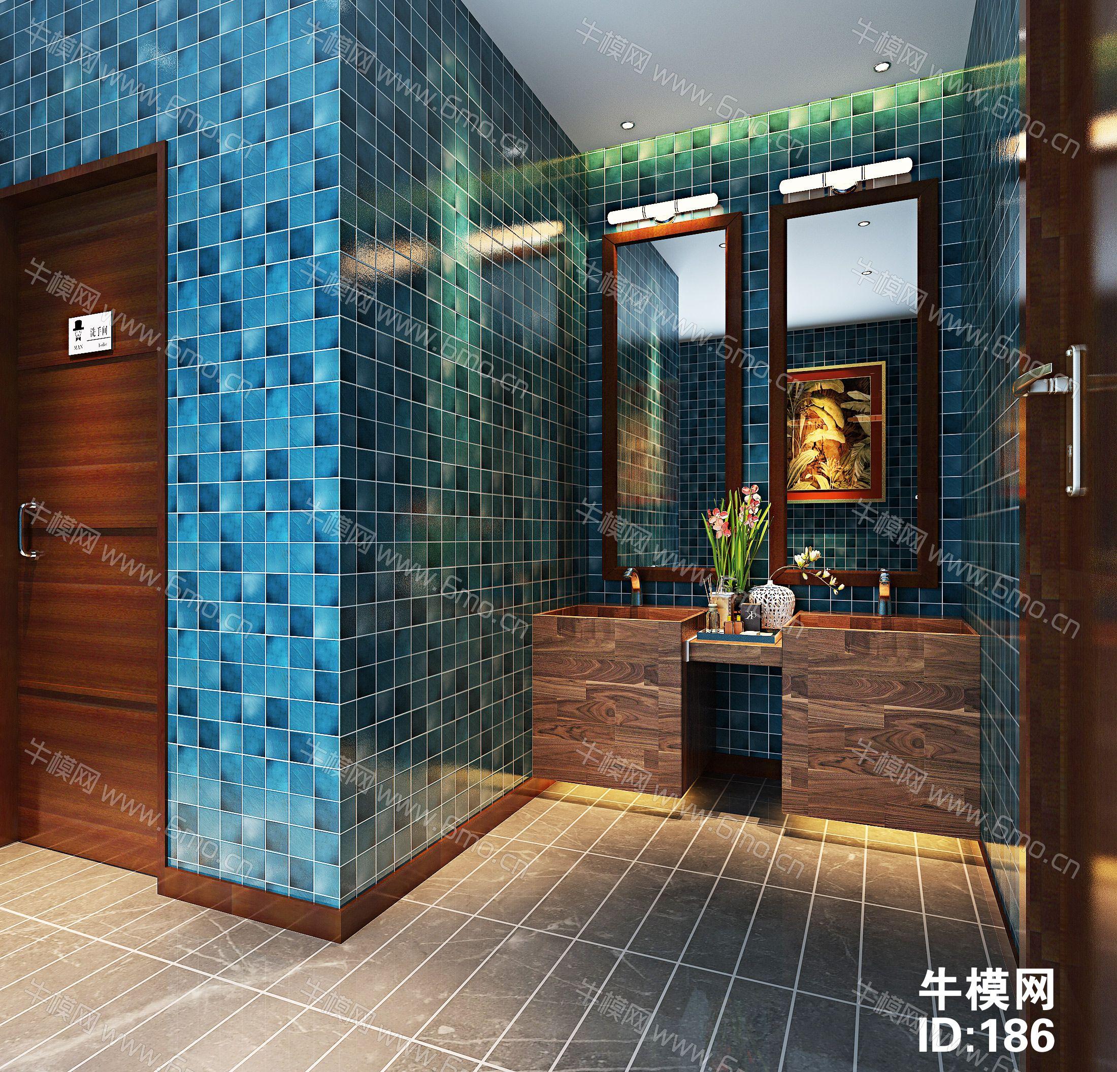 公共区域卫生间-洗手间