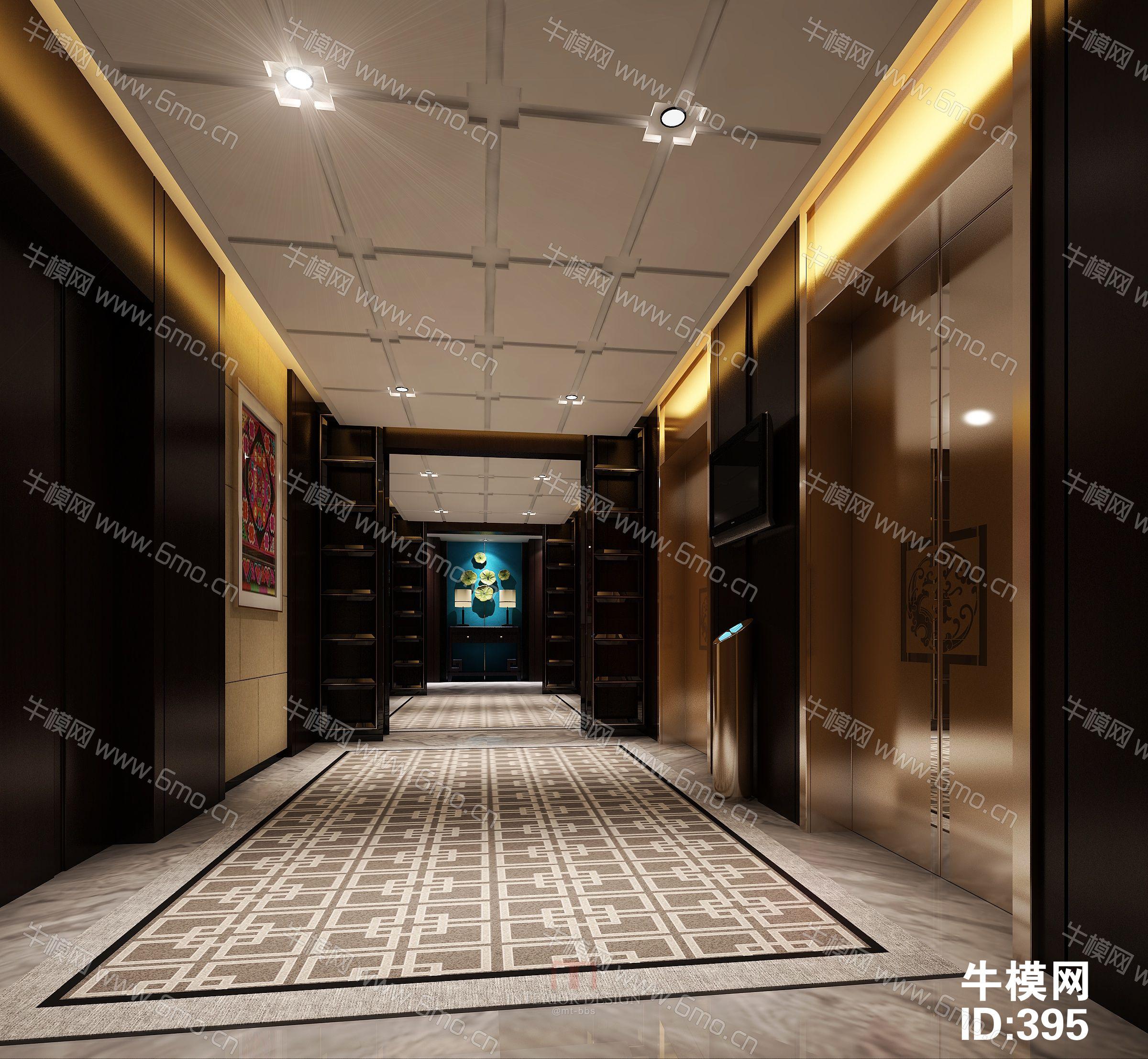 酒店电梯间