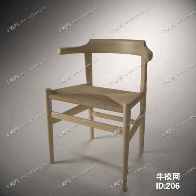 新中式实木单人椅子
