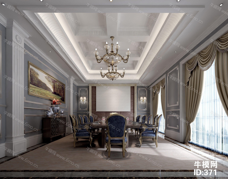 欧式风格公司会议室