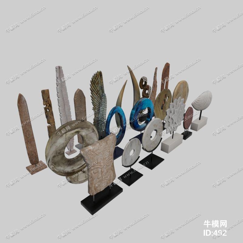 中式装饰摆件组合