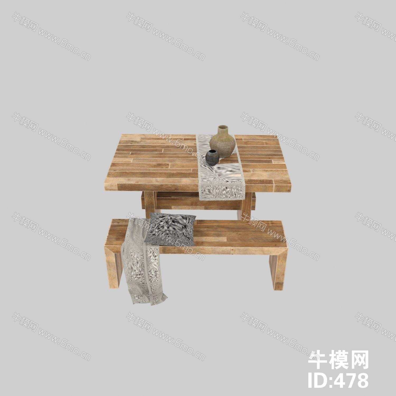 中式简约桌椅组合