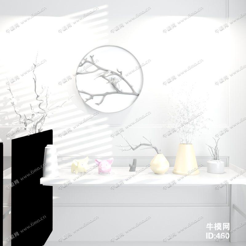 中式风格边柜组合
