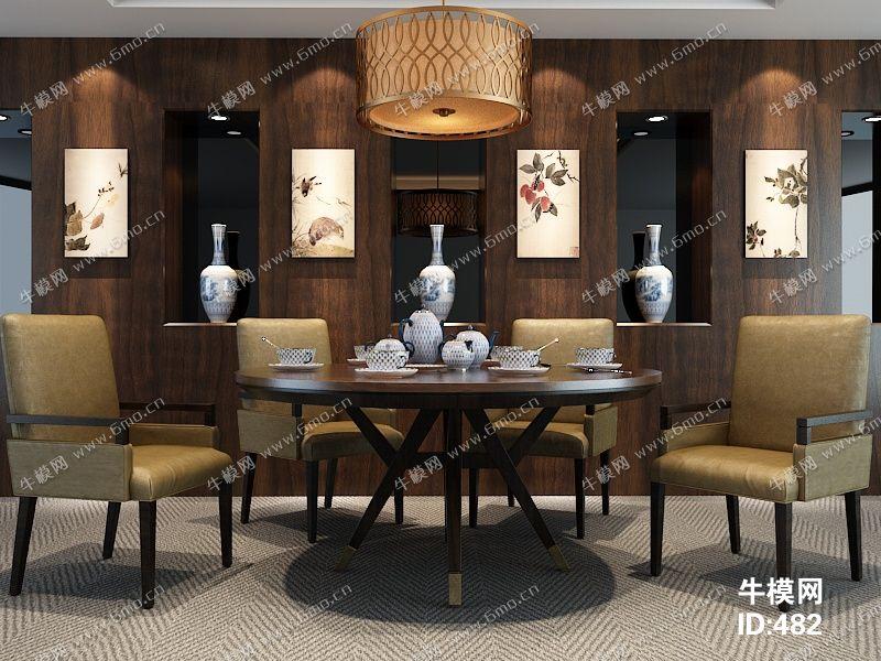 中式风格桌椅组合