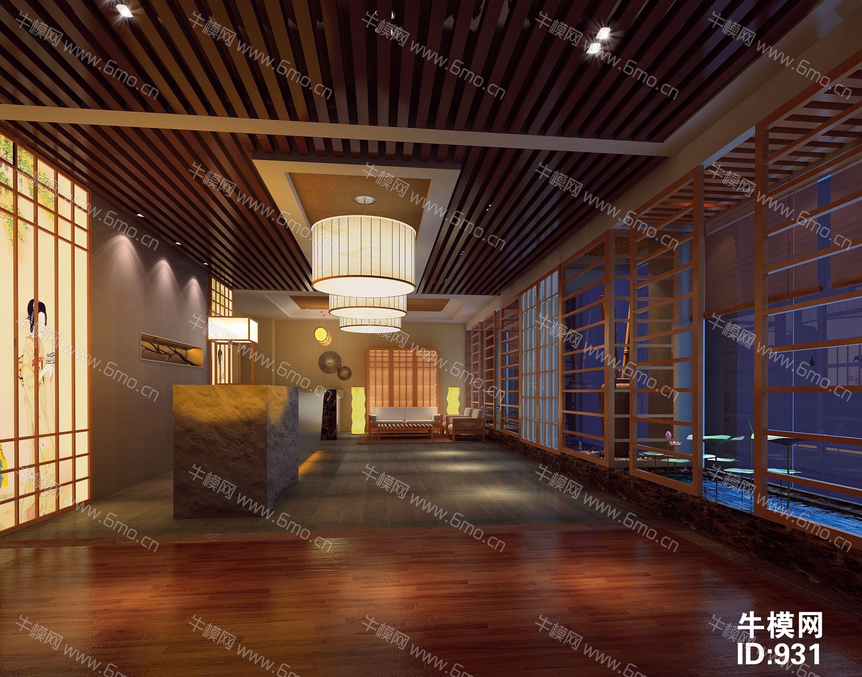 日式会所洗浴中心前台