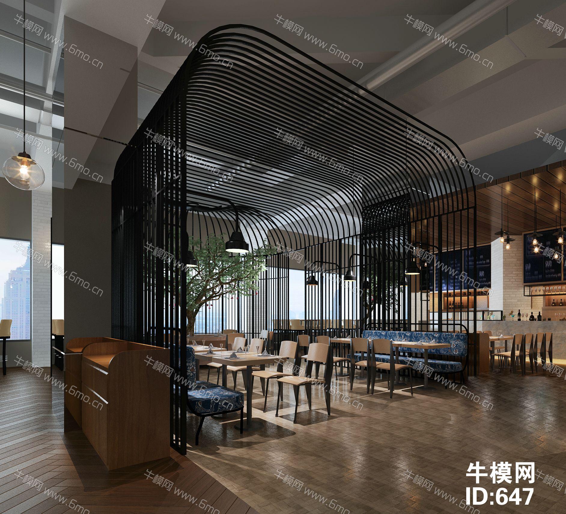 工业风餐厅饭店
