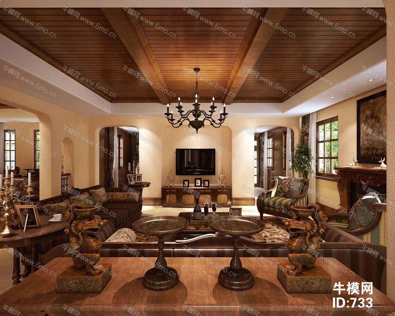 美式田园客厅