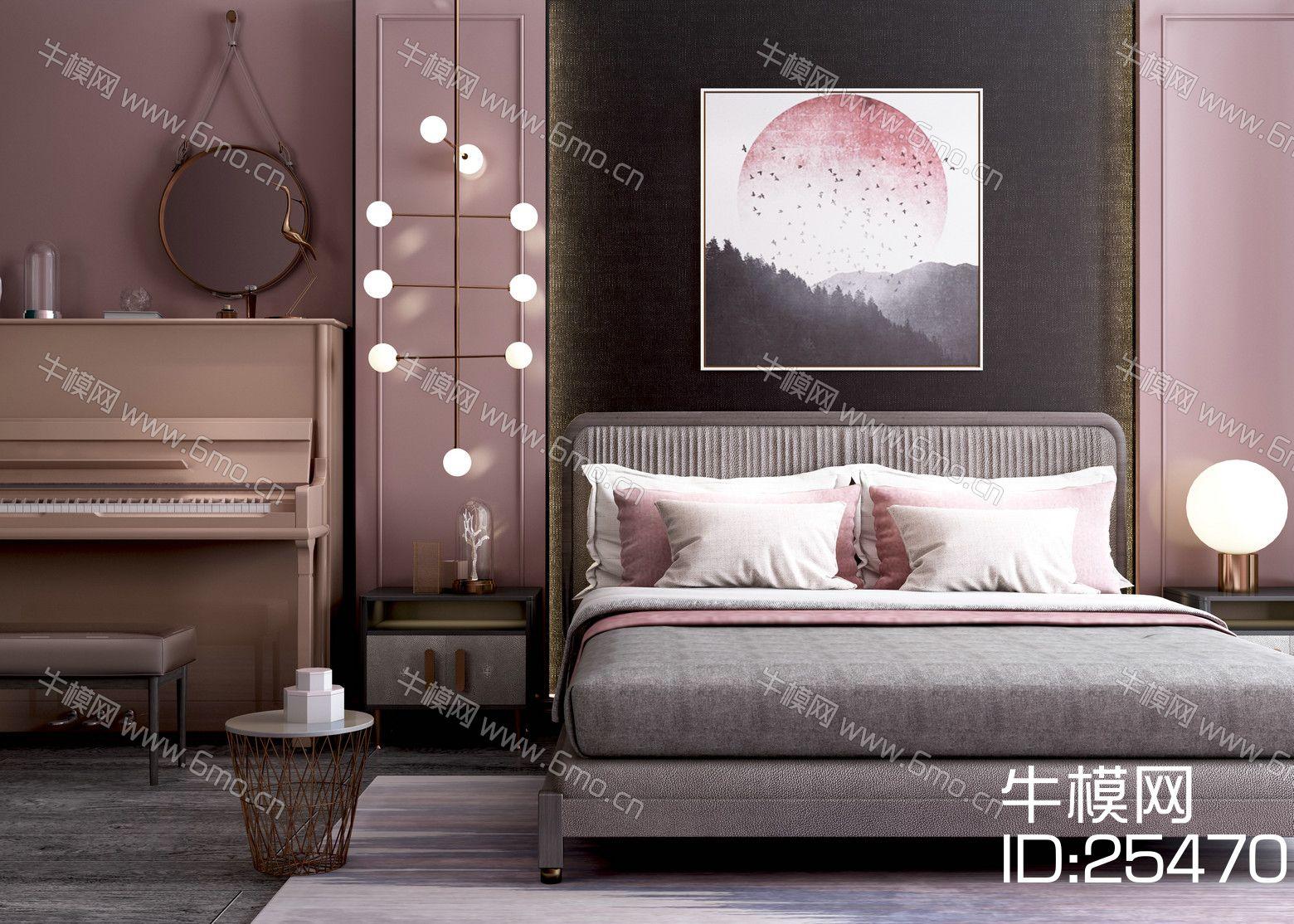 现代风格床具组合