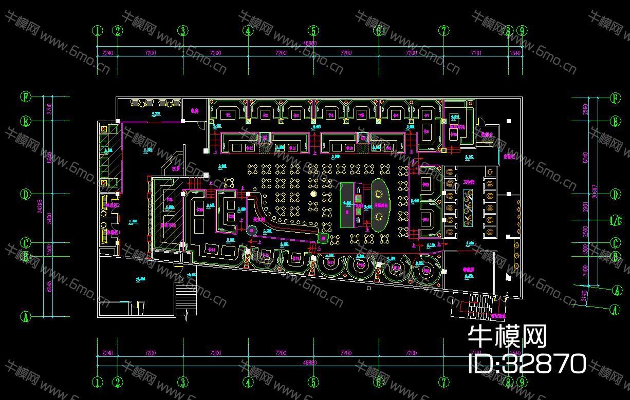 淮南酒吧施工图