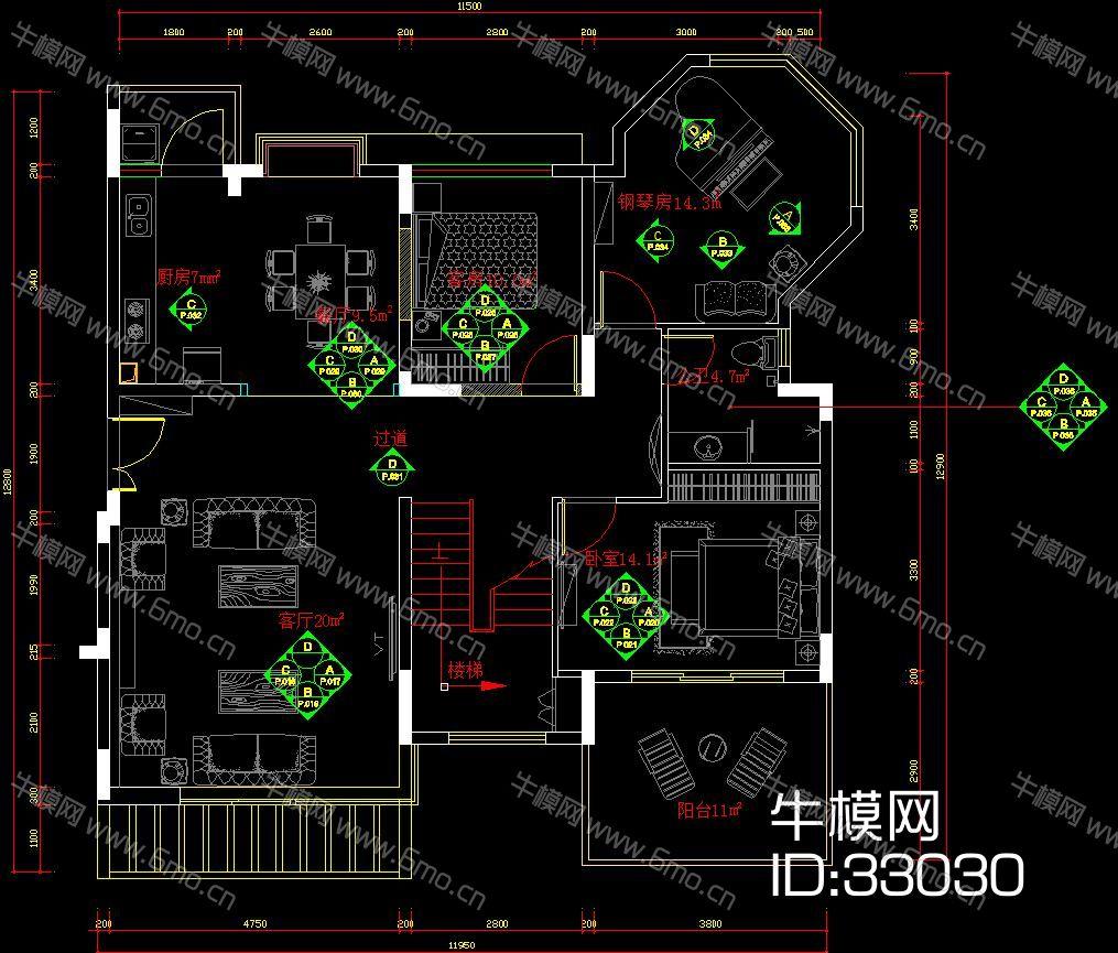 金众 葛·兰溪谷14栋5层01户型样板房