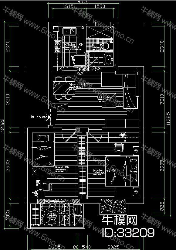 现代两居施工图