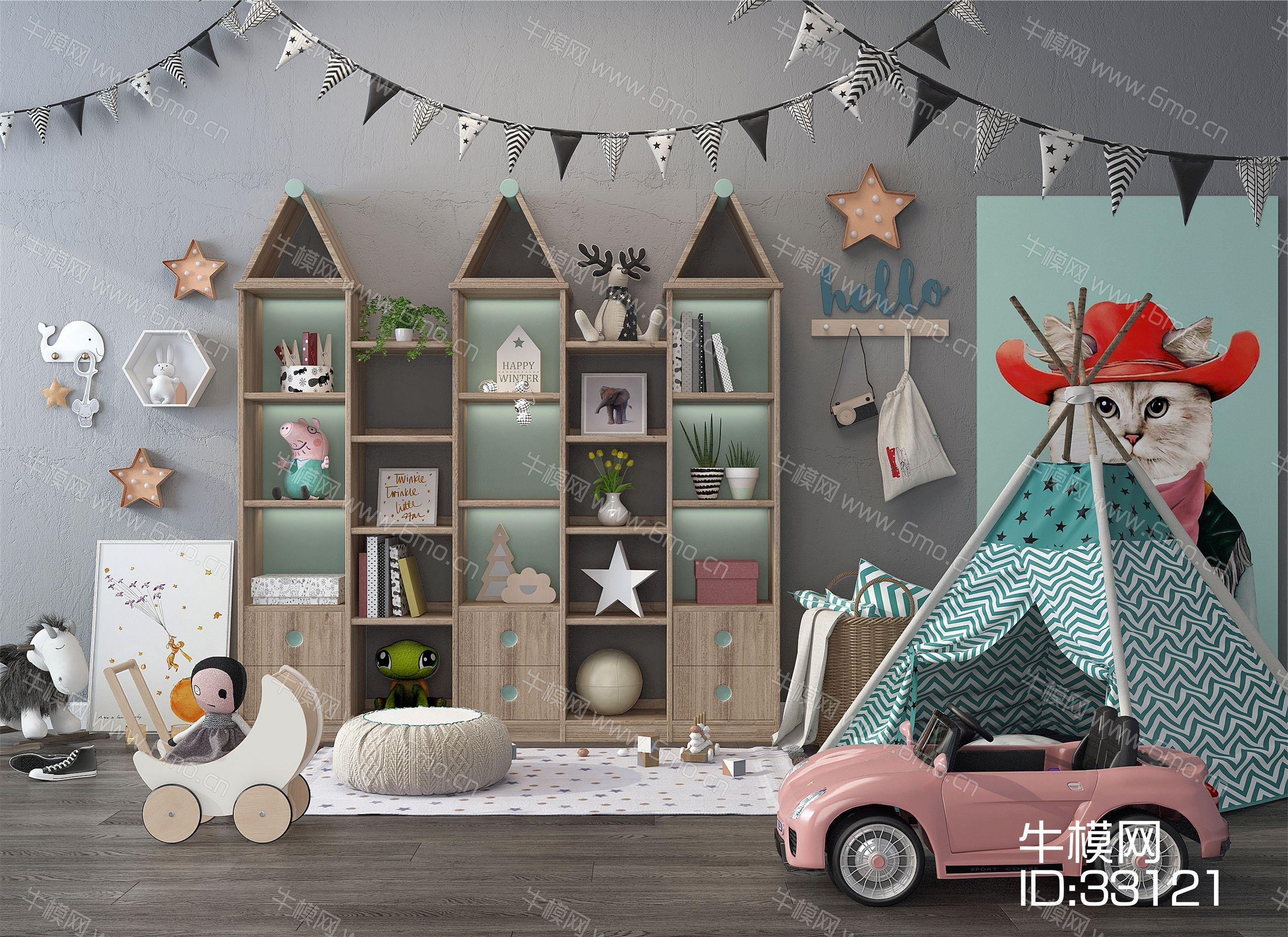 儿童房装饰品 玩具