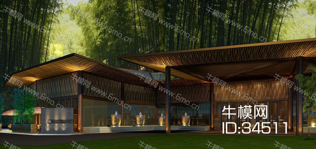 中式风格室外建筑