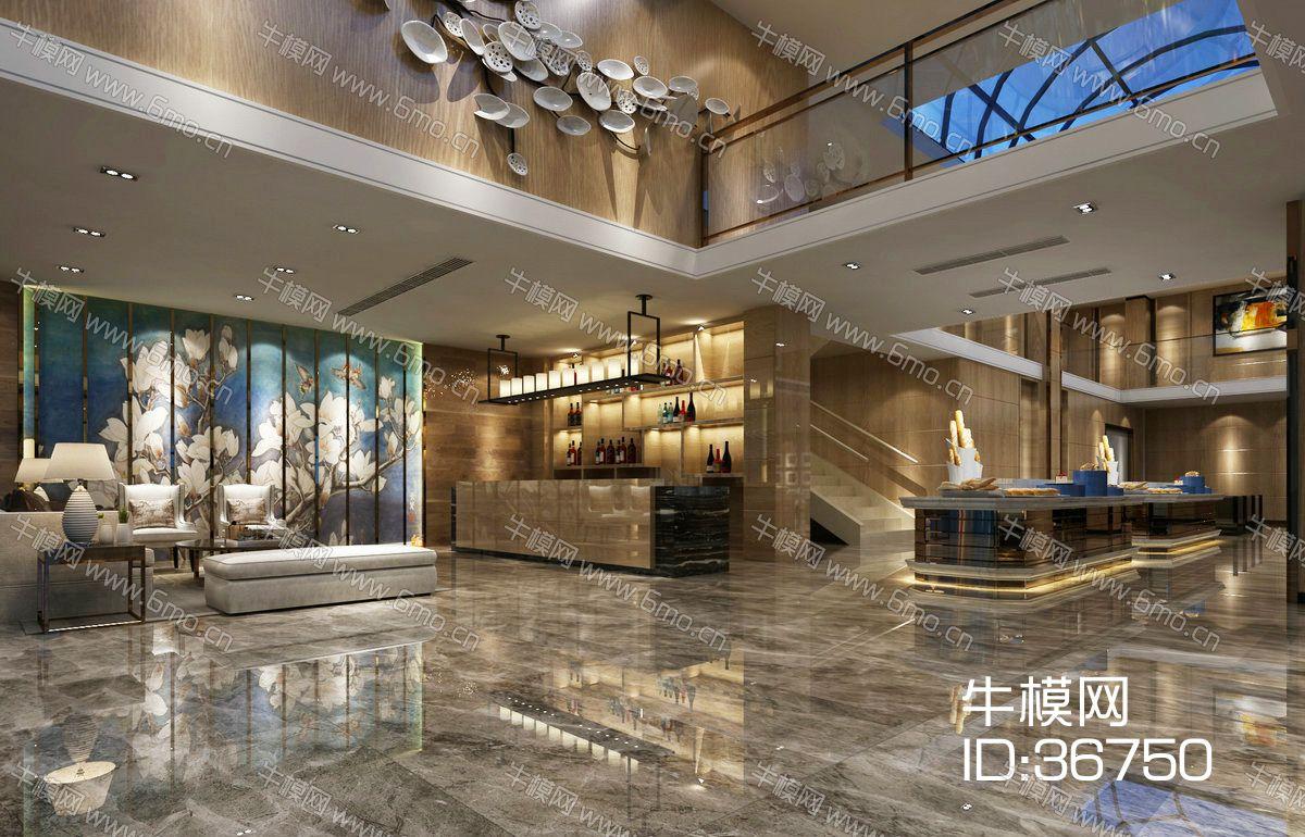 酒店大堂 新中式