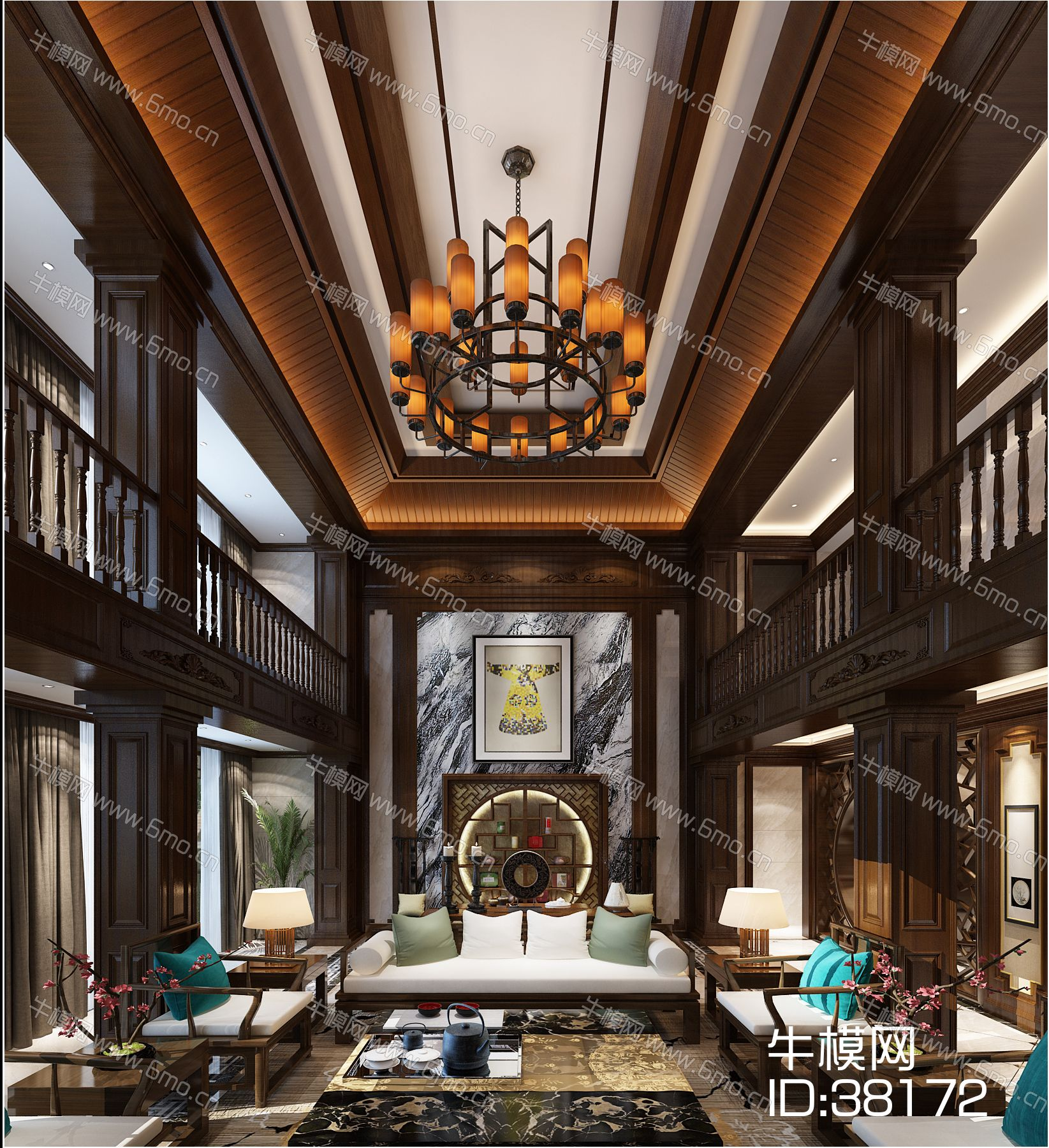 中式风格别墅大堂