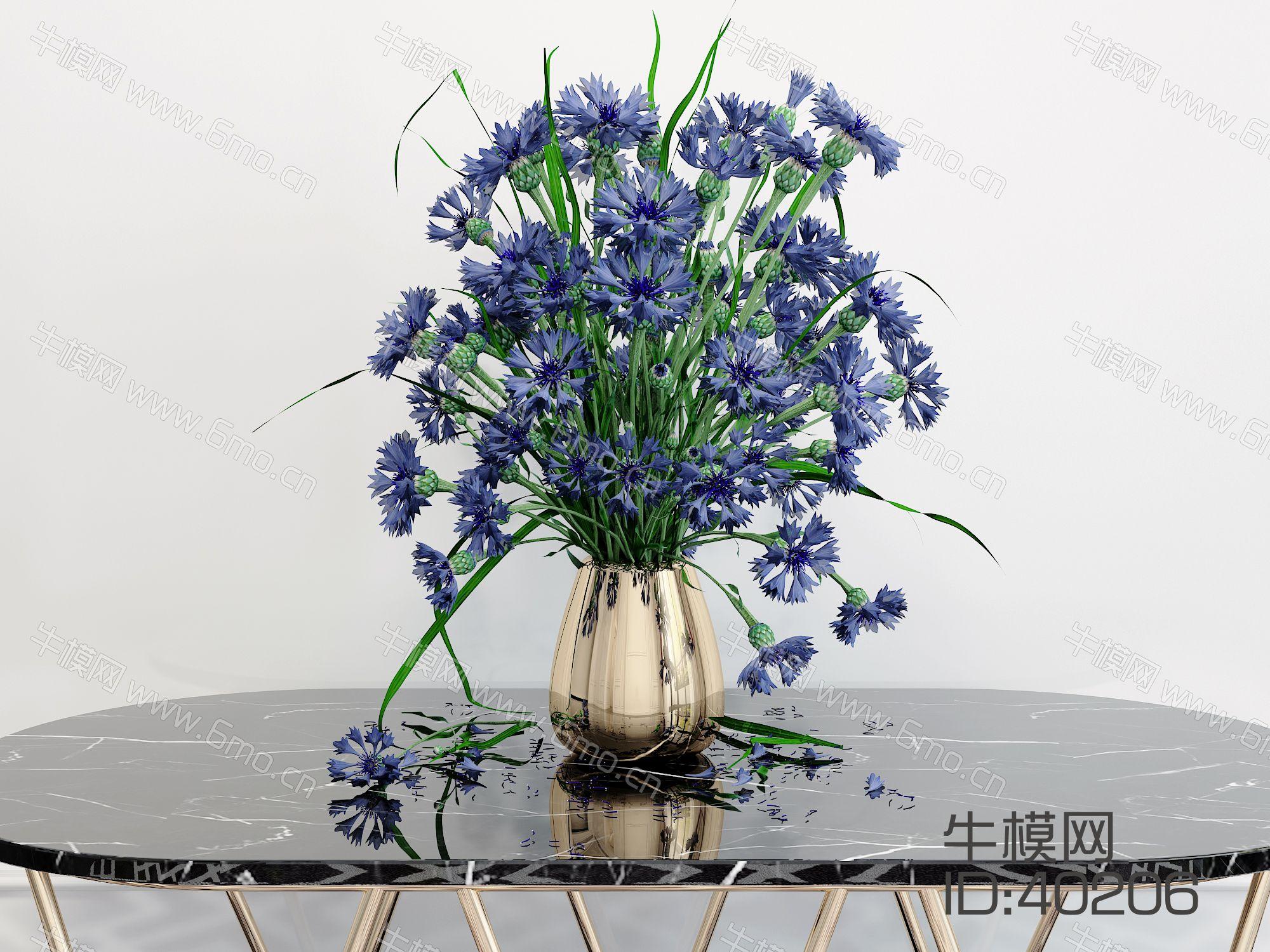 现代花瓶花卉