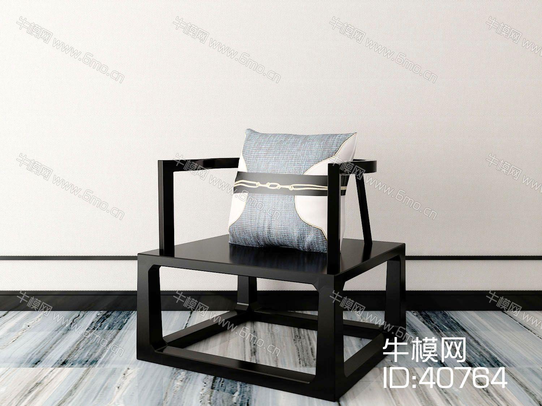 新中式单椅