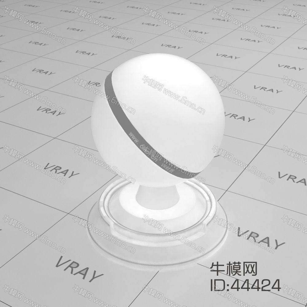 白色半透明塑料材质