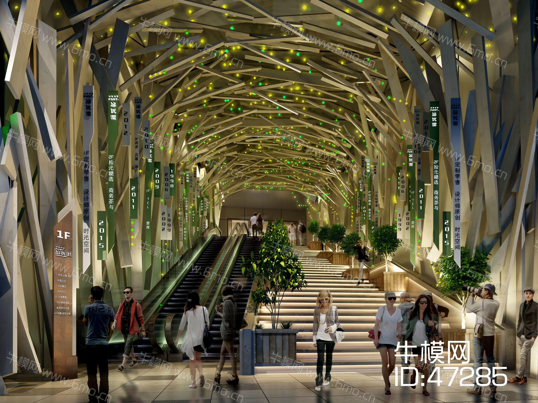 现代风格大型商场入口