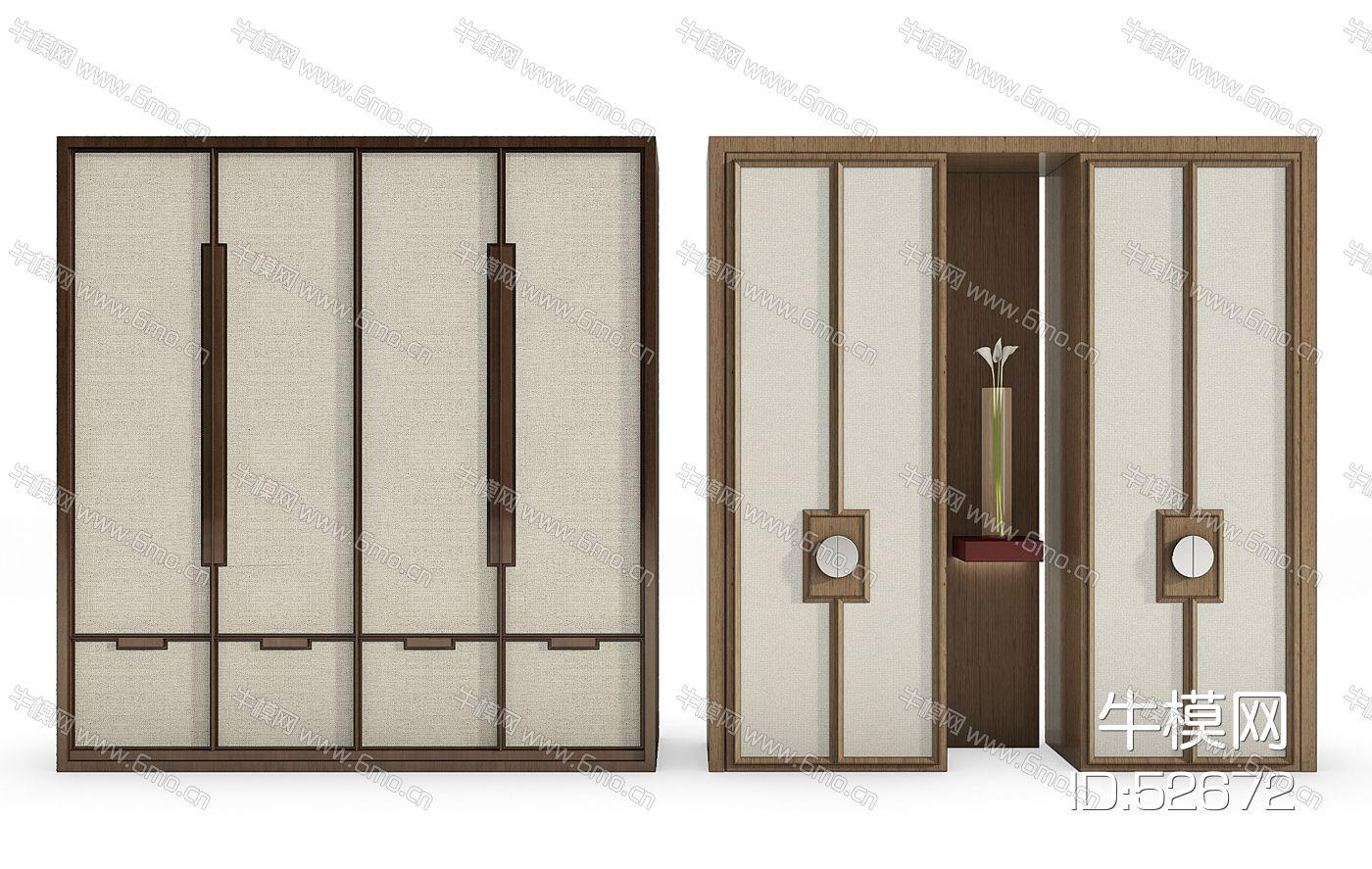 新中式衣柜摆件组合