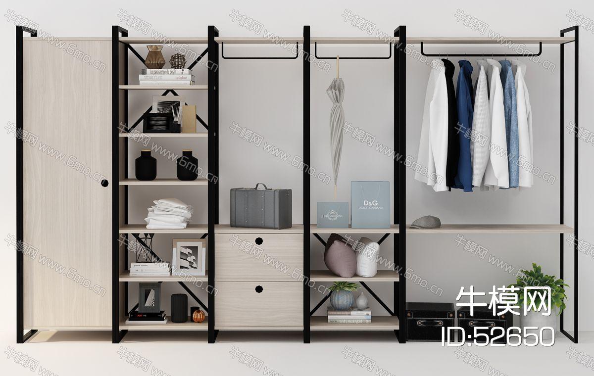 现代简易衣柜装饰柜摆件组合